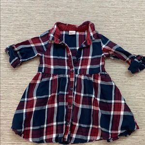 Baby girl flannel dress 9-12 months H&M